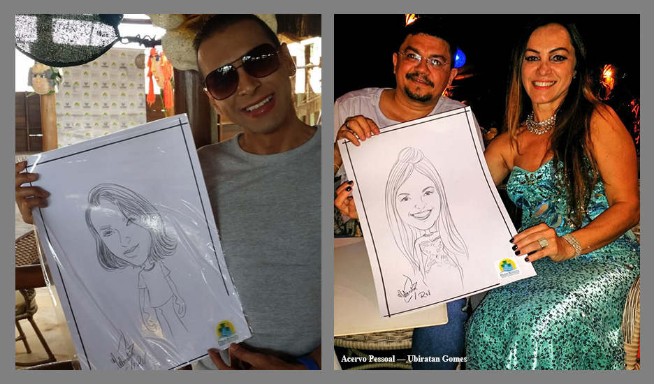 Caricaturista diferencia lançamento do all-inclusive Praia Bonita Resort & Conventions